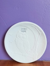 Night owl dessert plate
