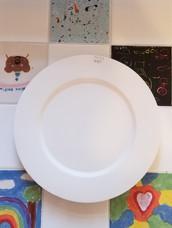 Round wide rimmed platter