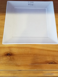 Rimmed square lunch plate