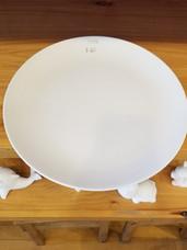 Round rimless platter