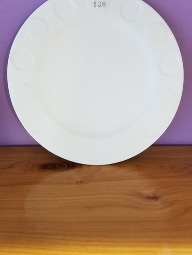 Dotted lunch plate