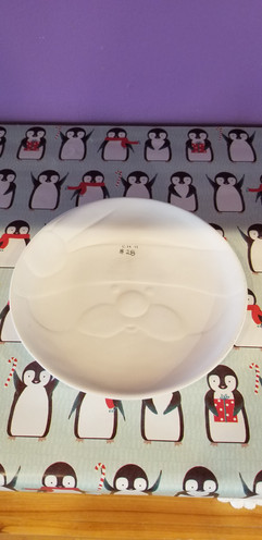 Round Santa face bowl