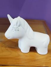 Small standing unicorn