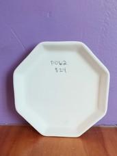 Octagon dessert plate
