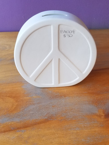Peace sign bank