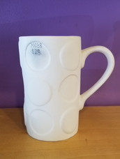 Tall polka dot mug