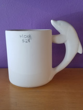 Straight dolphin mug