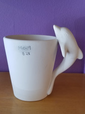 Cone dolphin mug