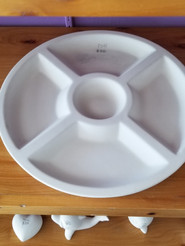 5 section round serving platter