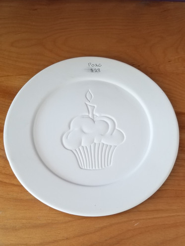 Rimmed cupcake lunch plate