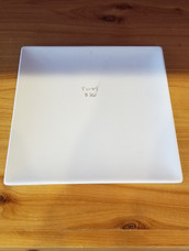 Rimless square lunch plate