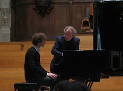 Ludovic Van Hellemont with Andras Schiff