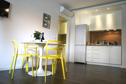 Living room with a kitchen