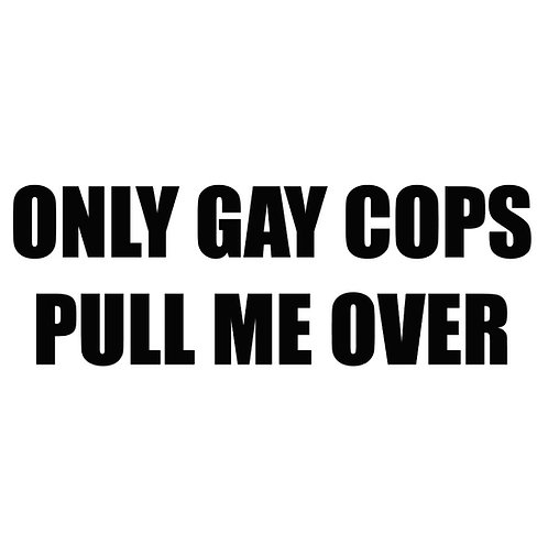 Only gay cops pull me over