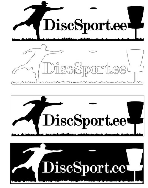 Discsport.ee kleebised 1m2 ( 168tk )
