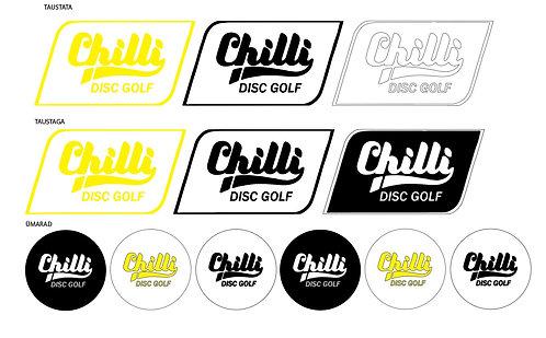Chilli Disc Golf Kleebiste komplekt