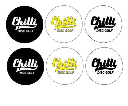 Chilli Disc Golf Kleebiste komplekt 1m2 ( 210tk )