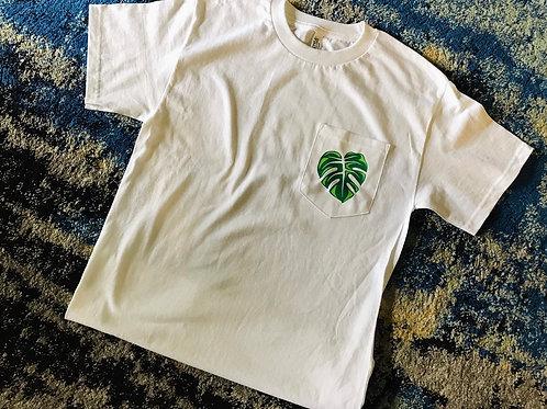 Monstera Leaf Pocket T-Shirt