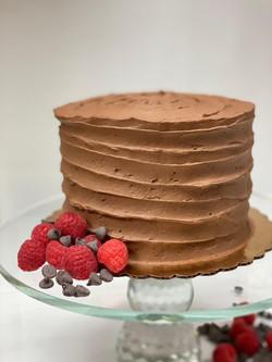 Keto Chocolate Raspberry Cake
