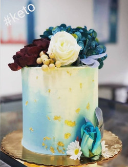 Keto Cake with Floral Decor