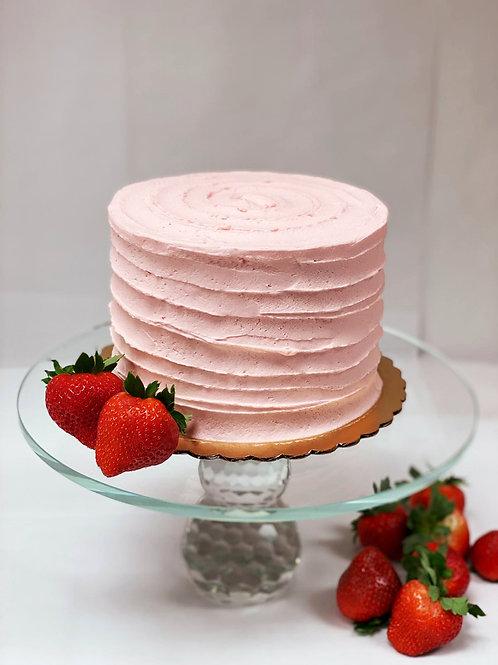 Keto Strawberry Vanilla Cake