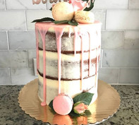 #24 - Semi Naked Cake in Pink Theme