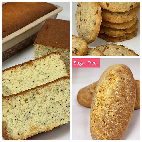 Keto Variety Pack (Bread, Pound Cake & 6 Large Cookies)