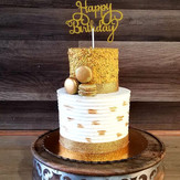 #35 - Tiered Cake with Bithday Topper