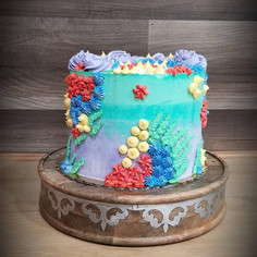 #15 - Mermaid Theme Cake