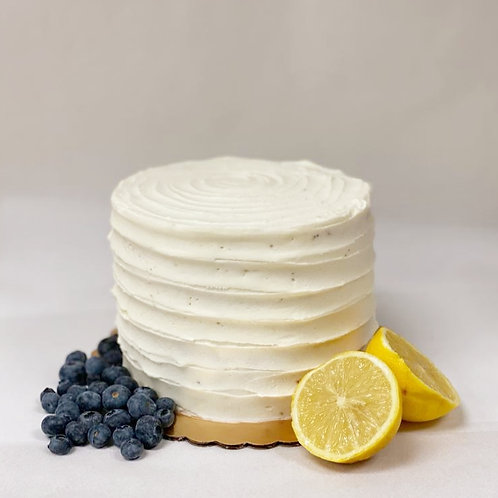 Keto Lemon Blueberry Cake
