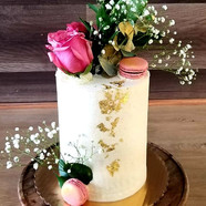 #34 - Tall Cake with Floral Decor