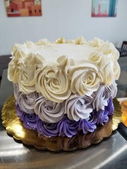 Keto Cake with Rosette Decor