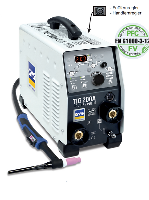 GYS PROTIG 200 DC HF Set