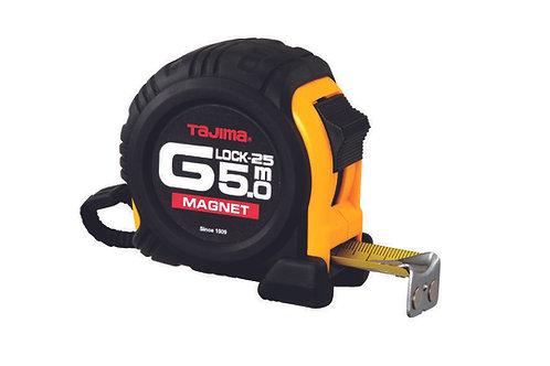 Tajima Rollbandmaß Bandmaß G Lock-25 5.0 m magnetisch starker Gehäuseschutz