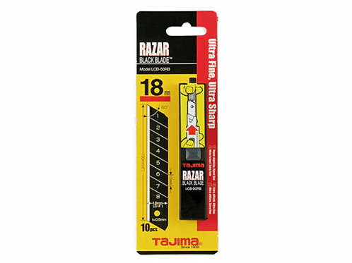 Tajima 10x Razar Black Blade 18mm im Spender - LCB50RBC/K1