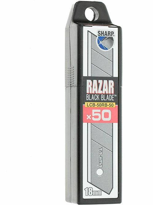 Tajima 50x Razar Black Blade Cuttermesserklinge Abbrechklinge 18mm LCB-50RB-50