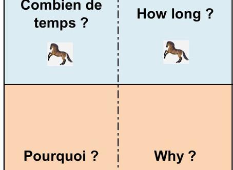 Un jeu pour les mots interrogatifs en anglais