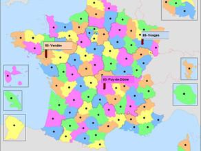 Plateau de Jeu départements