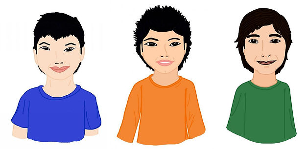 3 frères hello.jpg