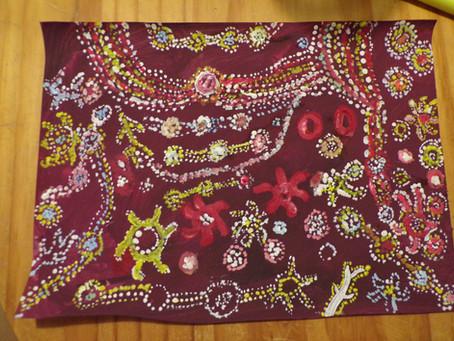 A la façon des artistes aborigènes d'Australie