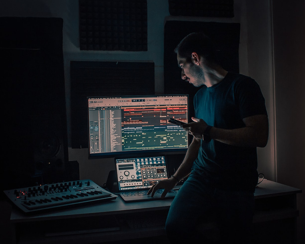 Music producer at their DAW