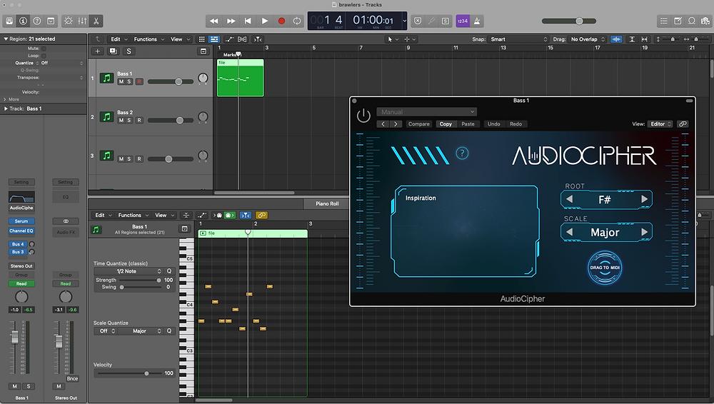 AudioCipher in Logic Pro X