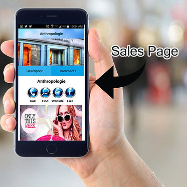 Add a Sales Page in your App