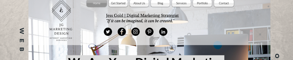 Web Design Page or social media post example: Jess Gold Digital Marketing Strategist.p