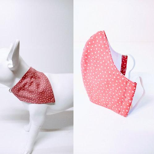 Bandana & Face Mask Set Stars/Pink  From £8.49