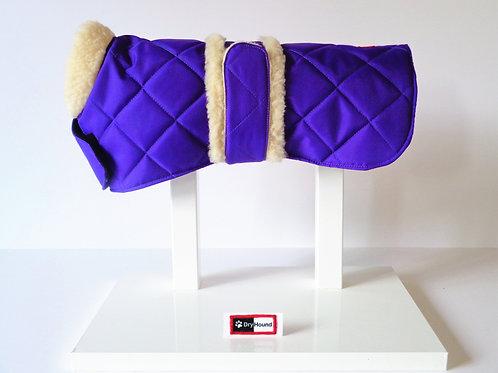 Quilted waterproof sherpa fleece trim coat From £12.99