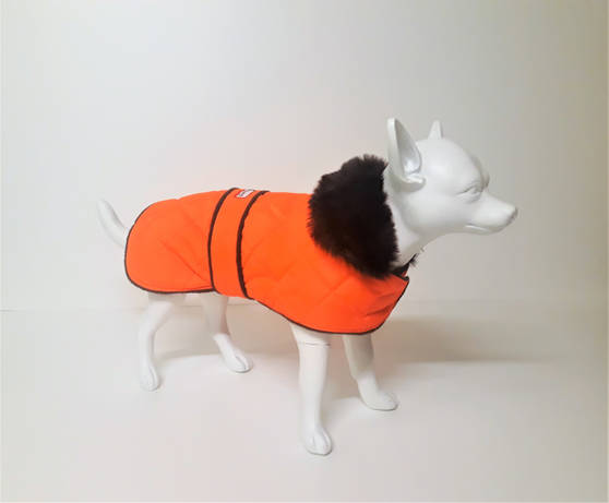 New Orange Quilted with Luxury Faux Fur Collar Now Available