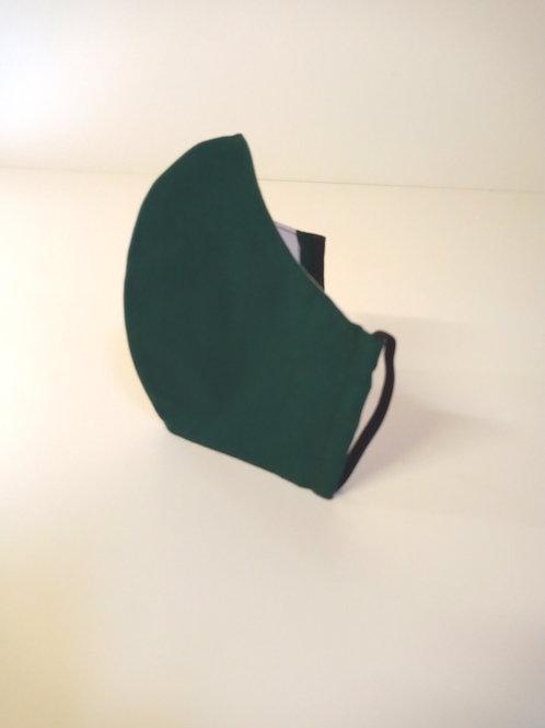 100% Cotton Face Mask Bottle Green