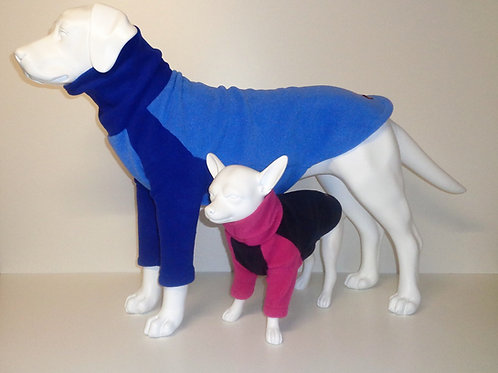 Water repellent fleece Two tone Snood style roll neck & legs from £17