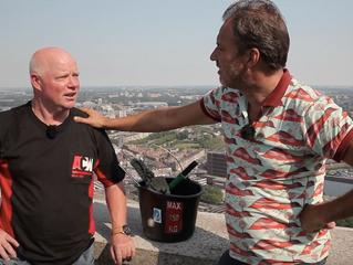 Peter Meijboom te zien op de online zender 'Recht uit Rotterdam'